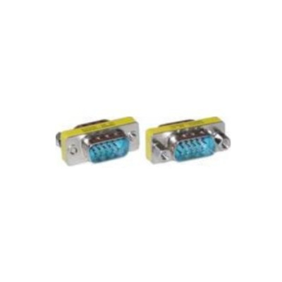 Microconnect Mini Gender HD15, M/M, VGA-VGA Kabel adapter - Blauw,Roestvrijstaal