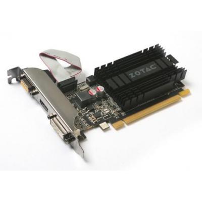 Zotac NVIDIA GeForce GT 710, PCI Express 2.0, 2GB DDR3, 64 bits, 1 x DVI-D, 1 x VGA, 1 x HDMI Videokaart - Zwart