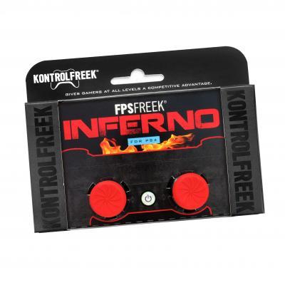 Kontrolfreek : FPS Freek Inferno thumbsticks voor PS4 - Rood