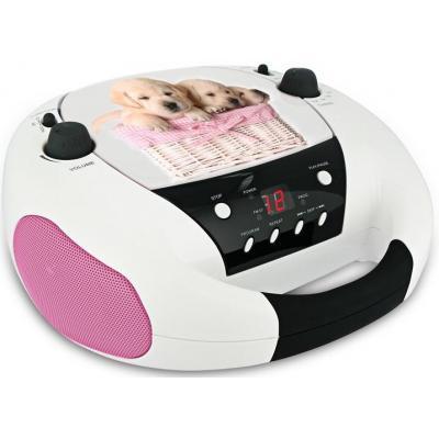 Bigben interactive CD-radio: CD52 - Dogs - Roze, Wit