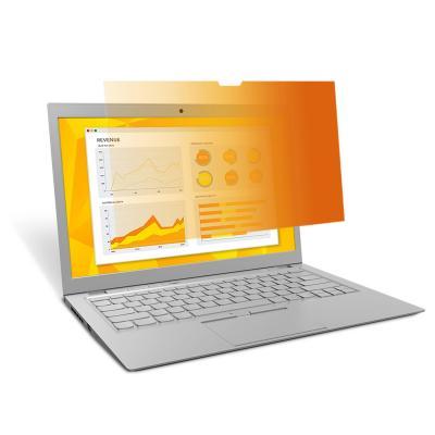 "3m schermfilter: GPF15.6W9 Gold Privacyfilter voor breedbeeldlaptop 15.6"" - Goud, Doorschijnend"