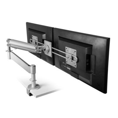 R-go tools monitorarm: Caparo 3 Pro Wing Monitorarm, gasveer, 0-18 kg, zilver