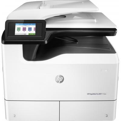 Hp multifunctional: PageWide Pro 772dn multifunctionele printer - Zwart, Cyaan, Magenta, Geel