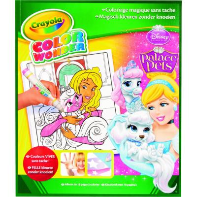 Crayola kleurplaat en boek: Color Wonder - Kleurboek Prinses 18blz.