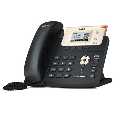 Yealink 132 x 64 pixel LCD Backlight, Fast Ethernet, PoE, 2 SIP accounts, Wall mountable IP telefoon - Zwart