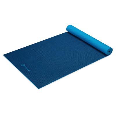 Gaiam fitness, gymnastiek & gewichtstraining: Fitness- / Yogamat - 5 mm - Licht blauw / Navy