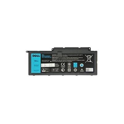 Dell 58 Wh 4-cell Li-Ion, Primary notebook reserve-onderdeel - Zwart,Blauw