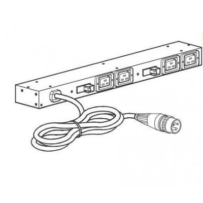 Apc energiedistributie: Rack PDU, Basic, 0U/1U, 120-240V/15A, (8) C13, Black - Zwart