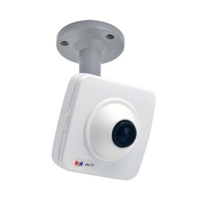 """ACTi 1/3.2"""" CMOS, 2592x1944px, 5MP, PoE, 3.55W, 96x45x96mm, 245g, Black/White Beveiligingscamera - Zwart, Wit"""