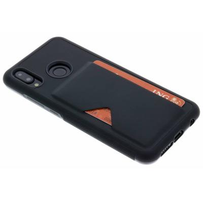 Cardslot Backcover Huawei P20 Lite - Zwart / Black Mobile phone case