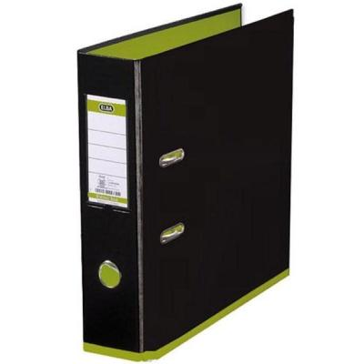 Elba Lever Arch File, A4, black/green Map - Zwart, Groen