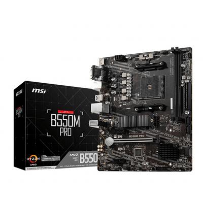 MSI AMD B550, AM4, 2x DDR4, PCIe x16, PCIe x1, HDMI, DP, VGA, 1G LAN, SATA III, M.2, USB 3.2, mATX, 244x244 mm .....