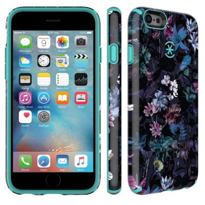 Speck apparatuurtas: iPhone 6 / 6s CandyShell Inked (Midnight Floral Purple / Mykonos Blue)