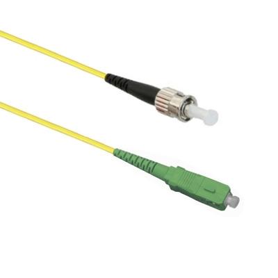 EECONN Glasvezel Patchkabel, 9/125 (OS1), SC/APC - ST, Simplex, 1m Fiber optic kabel - Geel