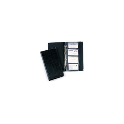 Durable map: Business card album Visifix 200 Black - Zwart