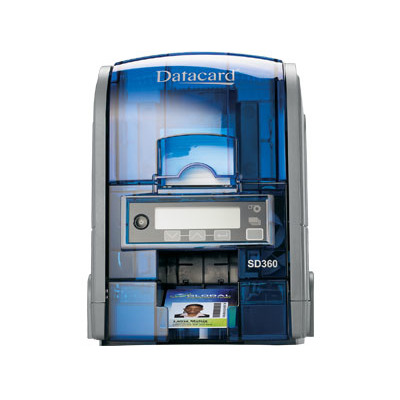 Datacard plastic kaart printer: SD360 - Blauw, Grijs