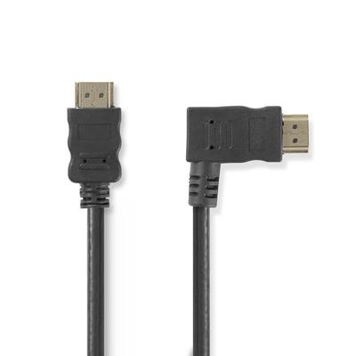 Nedis High Speed HDMI™-kabel met Ethernet, HDMI™-connector - HDMI™-aansluiting rechts haaks, 1,5 m, Zwart .....