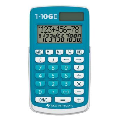 Texas Instruments TI-106 II Calculator - Turkoois, Wit