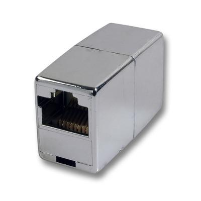 EFB Elektronik 2 x RJ45, F/F, metal Kabel adapter - Metallic