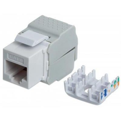 Intellinet kabel connector: Cat6 Keystone Jack - Grijs