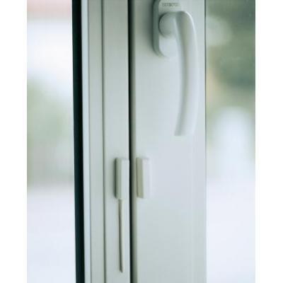 Abus beveiliging: Opening detector, 2m, 2-core, white - Wit