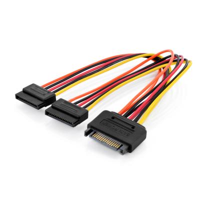 Digitus Internal Y-power supply cable M/F/F, 0.3m, SATA 15-pin - 2x SATA 15-pin - Meerkleurig