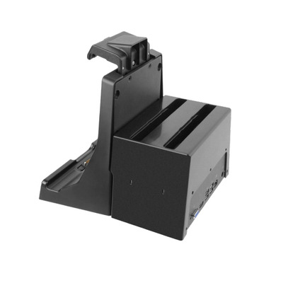 Getac Office Dock with with Twin Battery Charger, EU Mobile device dock station - Zwart