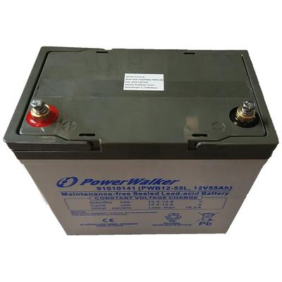 PowerWalker PWB12-55L UPS batterij - Zwart, Grijs