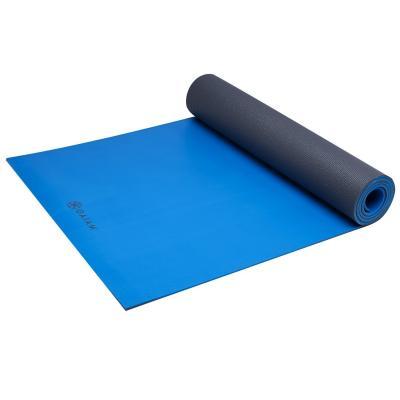 Gaiam fitness, gymnastiek & gewichtstraining: Athletic Fitness- / Yogamat - 5 mm - Blauw / Grijs