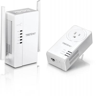 Trendnet PowerLine router: 300m, 867 Mbps, 2-67Mhz, QoS, 100-240V, 50Hz, 130x75x255mm, 332gWhite - Wit
