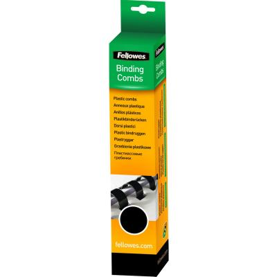 Fellowes inbinder: Plastic bindrug 12mm, zwart