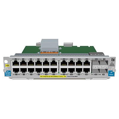 Hewlett packard enterprise netwerk switch module: 20-port Gig-T PoE+ / 4-port SFP v2 zl Module