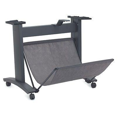 Hp multimedia kar & stand: Designjet 1xx/5xx 24-in Stand and Bin Q1246B - Zwart