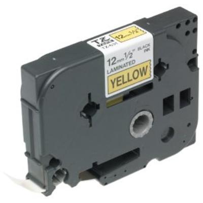 Brother 12 mm zwart op geel gelamineerde tape, 15 m Labelprinter tape