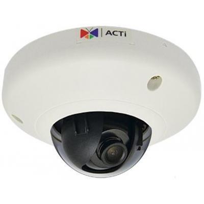 "Acti beveiligingscamera: 1MP, 720p, 30 fps, 1/4"" CMOS, Fast Ethernet, PoE, 2.43 W, 201 g - Wit"