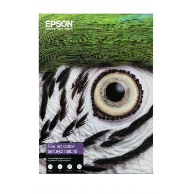 Epson creatief papier: Fine Art Cotton Textured Natural A3+ 25 Sheets