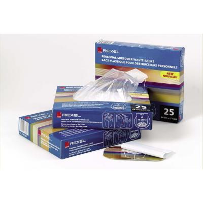 Rexel papier-shredder accesoire: Plastic Opvangzakken voor Papiervernietigers 40L AS100 (100) - Doorschijnend