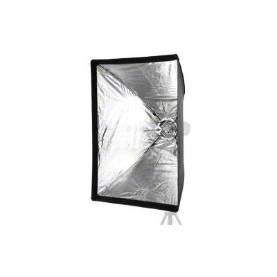 Walimex softbox: easy Umbrella Softbox 60x90cm - Zwart, Zilver, Wit