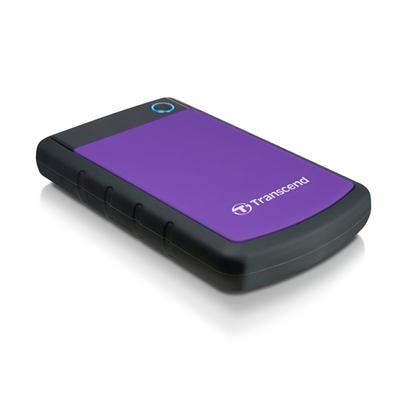 Transcend StoreJet 25H3P (USB 3.0), 2TB Externe harde schijf - Zwart, Violet
