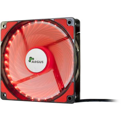 Inter-Tech L-12025 Hardware koeling - Zwart, Rood