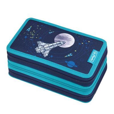 Herlitz potlood case: triple case 31 pcs. Space - Blauw