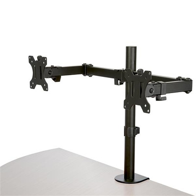 StarTech.com Monitorstandaard dubbele monitor arm crossbar draaibaar staal Monitorarm - Zwart