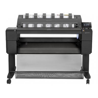 Hp grootformaat printer: Designjet T920 914 mm ePrinter - Cyaan, Grijs, Magenta, Mat Zwart, Foto zwart, Geel
