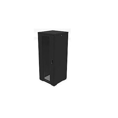 Eaton rack: RE Series IT Rack: 42U x 600mmW x 800mmD. Glazed Doors with sides - Zwart