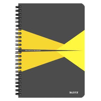 Leitz schrijfblok: Office A5 ruled, 90p, 164 x 12 x 210 mm, 280 g - Grijs, Geel