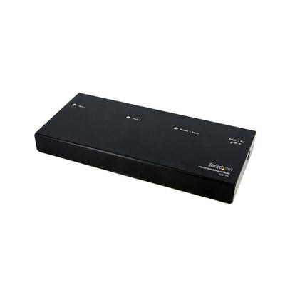 StarTech.com 2-poort DVI met Audio Video splitter - Zwart