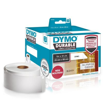 Dymo labelprinter tape: 1 roll, 700 labels, 89x25 mm, white - Wit
