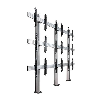 B-Tech Universal Bolt Down Videowall Stand TV standaard - Zwart, Zilver