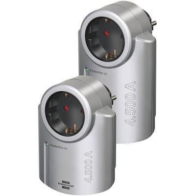 Brennenstuhl surge protector: BN-SPP01 - Zwart, Zilver