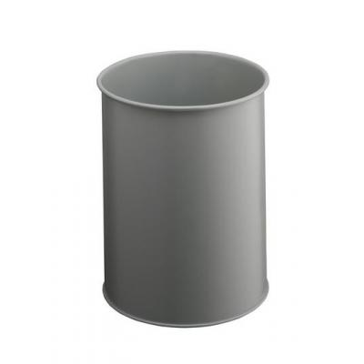 Durable prullenbak: Waste basket metal round 15 - Grijs